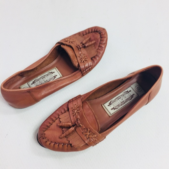 SEPARATE ISSUE Shoes Moccasins Loafers Womens Size 6.5 Vintage Flat Leather